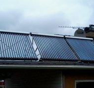 Solfångare 15 rör takmontering